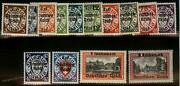 Germany 1939 Wwii Occupied Poland Danzig Op Mi716-729 Mnh Complete Set 101570