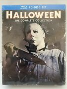 Halloween The Complete Collection Blu-ray 10 Disc, 2014 Brand New Sealed E1r3