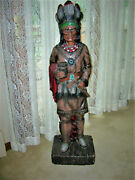 Universal Statuary 3-1/2and039 Foot 42 Faux Wood Cigar Store Figure Sculpture 1972