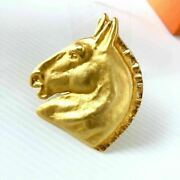 Hermes Brooch Rare Old Horse Hose Pin Badge With Box Antique 6-104 Vintage