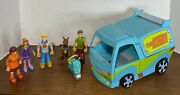 Vintage Scooby Doo Playmobil Mystery Machine With All 5 Figures And Scooter