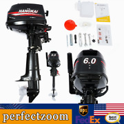 Hangkai Outboard Motor Fishing Boat Engine 6 Hp 2stroke Water Cooling System Us