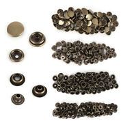 300x Brass Rivet Buttons Poppers Snap Fasteners Press No Sew Leather Craft 15mm