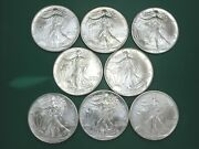 Lot Of 8 X 1994 American Silver Eagles Better Date Uncirculated 1 Oz. Coins Q3ed
