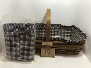 Longaberger 1988 Jw Collection Gathering Basket - Liners Included