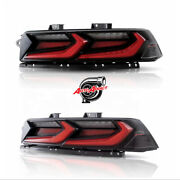 2014-2015 Chevy Camaro Velox Led Taillights Gloss Black/red Lens