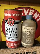 Pair Of Firestone Collectible Gas And Oil Cans