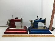 2 Vintage Casige Hand Crank Child Toy Sewing Machines, Germany Parts Only