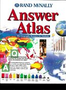 Rand Mcnally Answer Atlas The Geography Resource For Students 2000 Edition