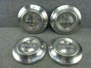 Set Of 1952-1954 Oem Factory Ford Pick Up Truck Hubcaps Dog Dish Wheel Covers