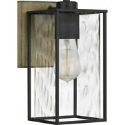 Holsten - 1 Light Wall Sconce - 10.75 Inches High Matte Black Finish Quoizel