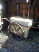 First Gas Pump Cart 30s Made By .bakersfield Ironworks We Can Ship It Read