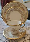 Lenox China Castle Garden 5 Dinner 4 Salad Plates, 2 Cups/saucers Rarely Used
