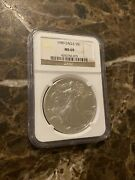 1989 S1 American 1oz .999 Fine Silver Eagle Bullion Coin - Ngc Certified Ms 69