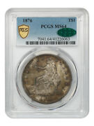 1876 Trade Pcgs/cac Ms64 - Nice Type Coin - Us Trade Dollar - Nice Type Coin