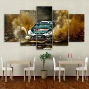 Ford Focus Rally Car 5 Panel Canvas Print Poster Picture Wall Art Home Decor