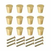 Rzdeal Solid Brass Cabinet Knobs Brushed Gold Drawer Knobs And Pulls Kitchen ...