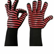 Gloves High Temperature Resistant Oven Mitts Fireproof Barbecue Heat Insulation