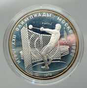 1979 Moscow 1980 Russia Olympics Hammer Throw Old Silver 5 Rouble Coin I92902