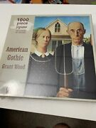 American Gothic By Grant Wood 1000 Piece Jigsaw Puzzle - New Factory Sealed