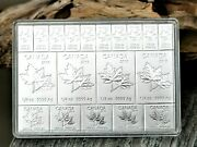 2018 Canada And039mapleflexand039 Fractional 2 Oz Maple Leaf 9999 Fine Silver Bar In Case