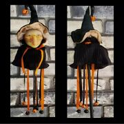 Vintage Witch Wand Halloween Accessory Bells Ribbons Costume Kitchen Witch