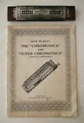Antique Vintage M Hohners Harmonica And 1931 How To Play Chromonica Book Free Ship