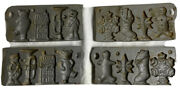 John Wright Cast Iron Candy Molds Christmas Holiday Lot 2 Vintage 1995 Collector
