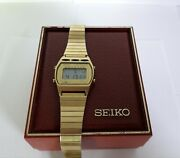 Vintage Retro Seiko Lcd Watch Digital Mens Watches With Box