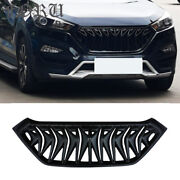 For 2016 17 2018 Hyundai Tucson Grill Facelift Cover Exterior Grille Matte Black