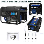 3000 Watt Portable Generator Gas Powered For Home Back Up Hurricane Recovery