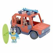 Bluey 4wd Family Vehicle With 1 Figure And 2 Surfboards   Customizable Car - A