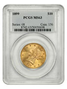 1899 10 Pcgs Ms63 - Liberty Eagle - Gold Coin