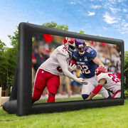 20ft Inflatable Blow Up Mega Movie Projector Screen For Front And Rear Projection