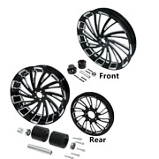 18 X 5.5and039and039 Frontandrear Wheel Rim Hub Pulley Sprocket Fit For Harley Touring 08-21