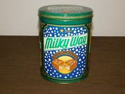 Vintage Kitchen 7 1/2 High Milky Way Snack Bars Candy Tin Can Empty