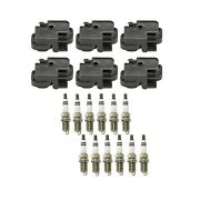 Genuine 6 Ignition Coils And 12 Spark Plugs Kit For Mercedes W203 S203 C240 V6