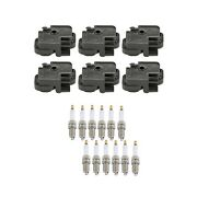 Genuine 6 Ignition Coils And 12 Spark Plugs Kit For Mercedes W203 W210 S210 V6