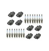 Genuine 8 Ignition Coils And 16 Spark Plugs Kit For Mercedes W203 R209 R171 V8