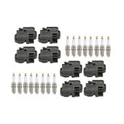 Genuine 8 Ignition Coils And 16 Spark Plugs Kit For Mercedes C215 C209 W163 V8