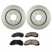 Bosch Quietcast Front Brake Kit 350mm Disc Rotors Ceramic Pads For Ford Lincoln