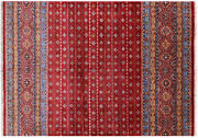 5and039 8 X 8and039 0 Hand Knotted Super Kazak Khorjin Wool Rug - Q10450
