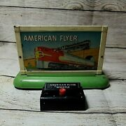 American Flyer 566 Whistling Billboard Box And Button Pre-owned
