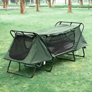 Portable Single Camping Tent Cot Oxford Folding Waterproof Hiking Bed 330lbs Us