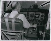 1960 Press Photo Padding Installed In Dc-3 Cockpit To Cover Exposed Tubing