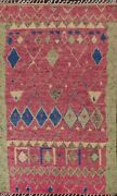 Thick-plush Geometric Tribal Moroccan Oriental Area Rug Hand-knotted Wool 6and039x10and039