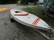 Vintage Sunfish Sailboat With Sail. Includes Trailer.