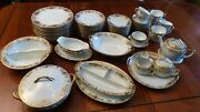 Noritake Service For 12 Christmas Ball With Serving Pieces White And Gold China