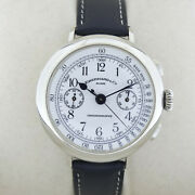Eberhard And Co.chronograph Enamel Face Sterling Silver 925 Ref31008