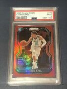 2020-21 Panini Red Prizm 278 Lamelo Ball Hornets Rc Rookie 198/299 Psa 9 🔥
